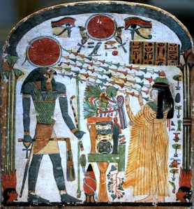 Horus holding Scepter of the Serpent