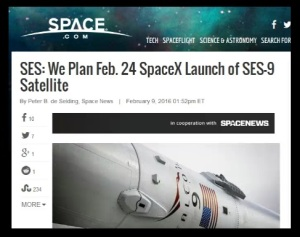 SpaceX Falcon9 Dragon Feb24 Purim Launch Date